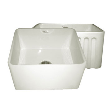 20 Inch Reversible Plain Or Fluted Fireclay Kitchen Sink