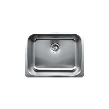 23 1/4 Inch Brushed Stainless Steel Single Bowl Undermount Kitchen Sink