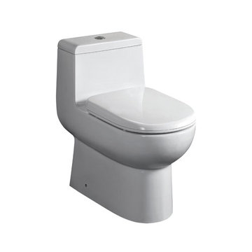 26 5/8 Inch One Piece Dual Flush Eco-Friendly Elongated Toilet