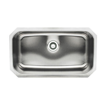 30 1/2 Inch Brushed Stainless Steel Single Bowl Undermount Kitchen Sink
