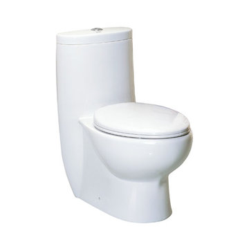 30 3/4 Inch One Piece Dual Flush Eco-Friendly Elongated Toilet