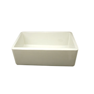 30 Inch Smooth Front Duet Reversible Fireclay Kitchen Sink