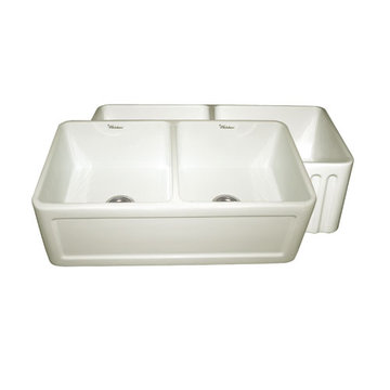 33 Inch Reversible Fluted Or Inset Panel Fireclay Kitchen Sink