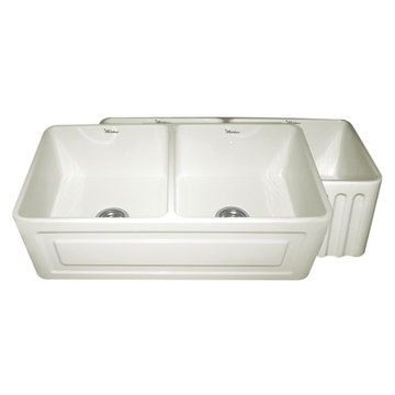 33 Inch Reversible Fluted Or Raised Panel Fireclay Kitchen Sink