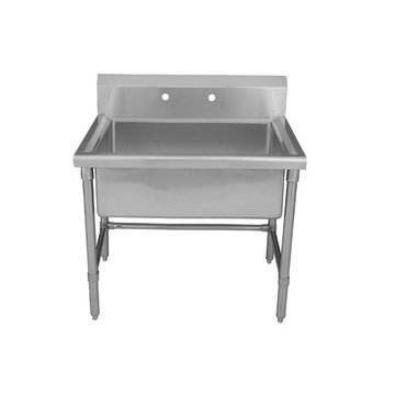36 Inch Brushed Stainless Steel Freestanding Laundry Or Utility Sink