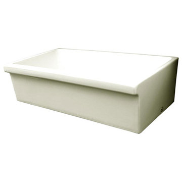 36 Inch Reversible 2 Inch Lip Or 2 1/2 Inch Lip Fireclay Kitchen Sink