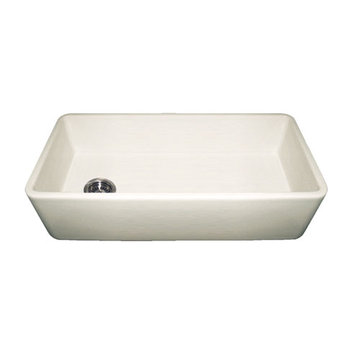 36 Inch Smooth Front Duet Reversible Fireclay Kitchen Sink