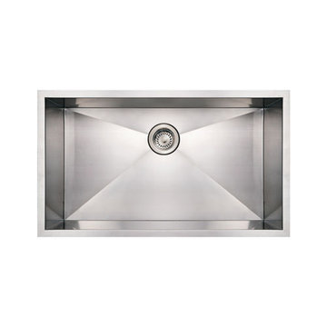 Brushed Stainless Steel Commercial Single Bowl Undermount Kitchen Sink