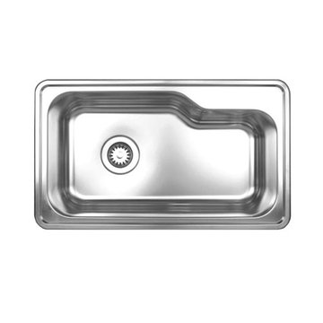 Brushed Stainless Steel Single Bowl Drop In Kitchen Sink