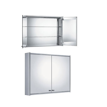Double Medicine Cabinet With Mirrored Back Wall