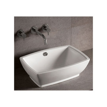 Isabella Rectangular Vessel Sink With Overflow