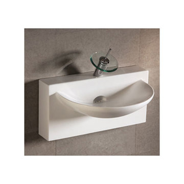 Isabella Rectangular Wall Mount Lavatory Sink