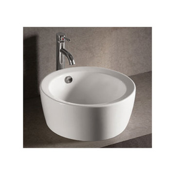 Isabella Round Vessel Sink With Overflow