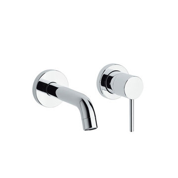 Luxe Single Lever Wall Mount Lavatory Faucet