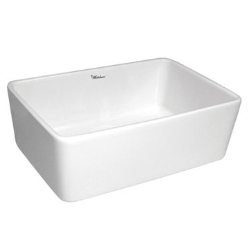 Non-Reversible Smooth Apron Fireclay Kitchen Sink