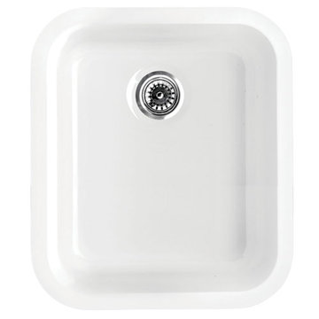 Rectangle Drop In Or Undermount Fireclay Kitchen Sink