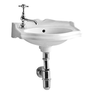 Small Rectangular Wall Mount China Lavatory Basin Sink