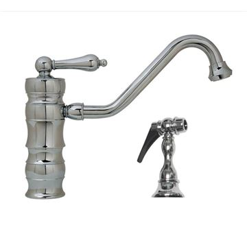 Vintage Single Hole Kitchen Faucet With Sprayer