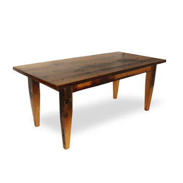 72 Inch Reclaimed Natural Dark Pine Farm Table