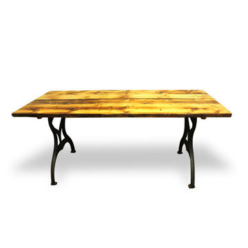 72 Inch Reclaimed Natural Pine Table With Brooklyn Legs