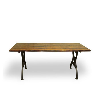 84 Inch Reclaimed Provincial Pine Table With Brooklyn Legs