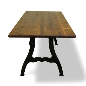 84 Inch Reclaimed Provincial Pine Table With New York Legs