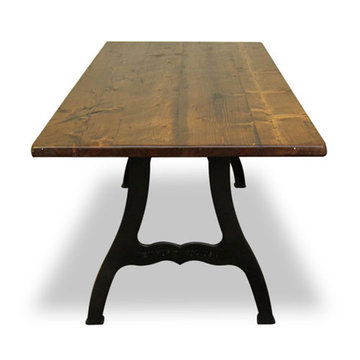 96 Inch Reclaimed Natural Pine Table With New York Legs