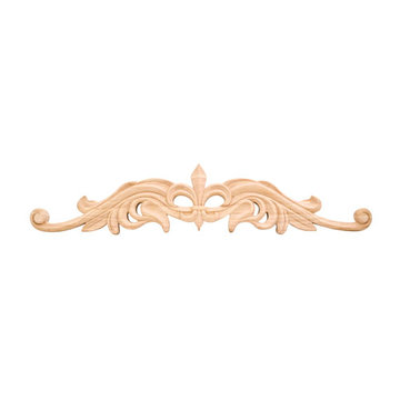 Legacy Heritage 24 Inch Hand Carved Fleur-de-Lis Onlay Applique