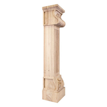 Legacy Heritage Acanthus Fluted Shell Fireplace Mantel Leg Corbel