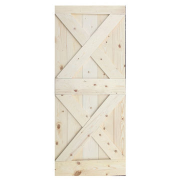 Wooden Pine Barn Door