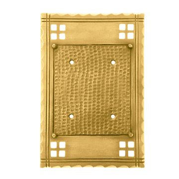 Brass Accents Arts and Crafts Double Blank Switchplate
