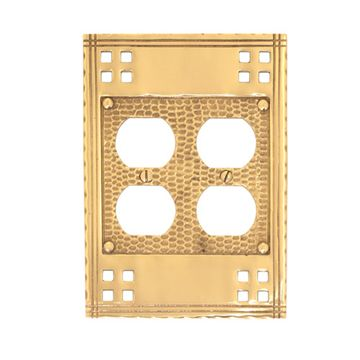 Brass Accents Arts and Crafts Double Duplex Switchplate