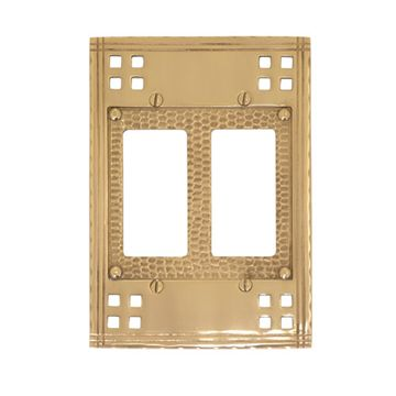 Brass Accents Arts and Crafts Double Rocker Switchplate