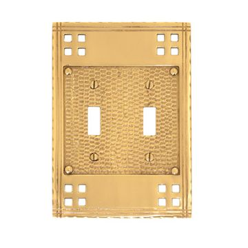Brass Accents Arts And Crafts Double Toggle Switchplate