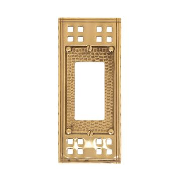Brass Accents Arts And Crafts Single Rocker Switchplate
