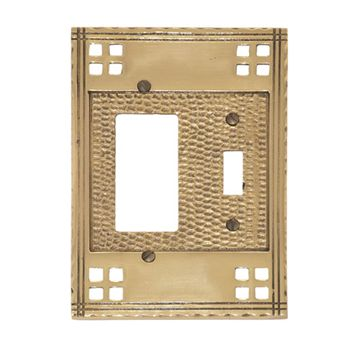 Brass Accents Arts And Crafts Toggle With Rocker Switchplate