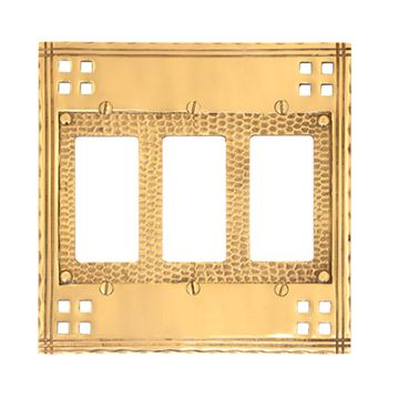 Brass Accents Arts And Crafts Triple Rocker Switchplate