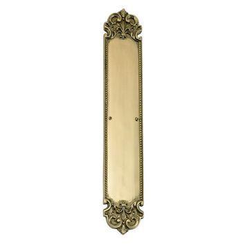 Brass Accents Fleur-De-Lis Push Plate