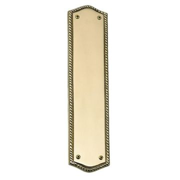 Brass Accents Trafalgar Push Plate