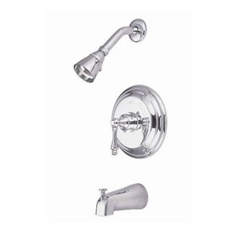 Kingston Brass Restoration Single Handle Tub & Shower Faucet - Metal Lever