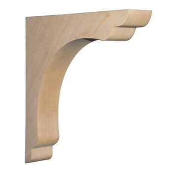 Legacy Signature 10 Inch Narrow Scalloped Overhang Bar Bracket Corbel