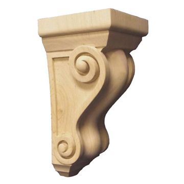 Legacy Signature 6 3/4 Inch Traditional Scroll Corbel - Wide