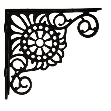 Restorers Flower & Bead Shelf Bracket - Pair