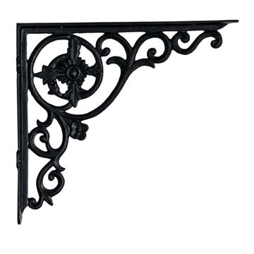 Restorers Decorative Black Powder Shelf Bracket