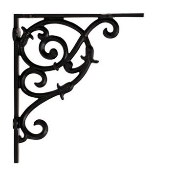 Restorers Tulip Scroll Small Shelf Bracket - Pair