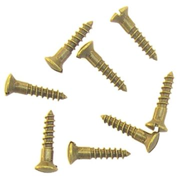 Restorers Classic #5 x 5/8 Inch Slotted Oval Head Screws - Pack of 20