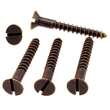 Restorers Classic #7 X 1 Inch Slotted Flat Head Screws - Pack Of 20