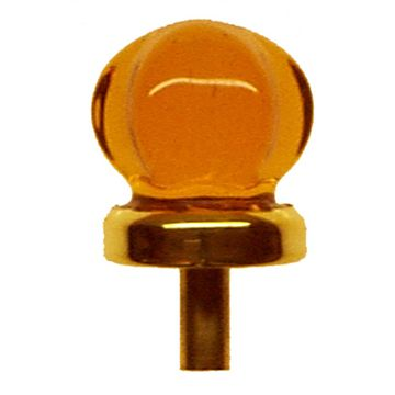 Restorers Classic 1 Inch Star Shaped Glass Knob With Brass Stem