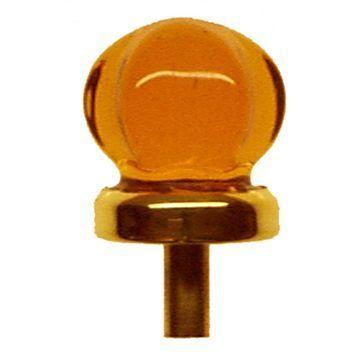 Restorers Classic 1 Inch Star Shaped Glass Knob with Brass Stem
