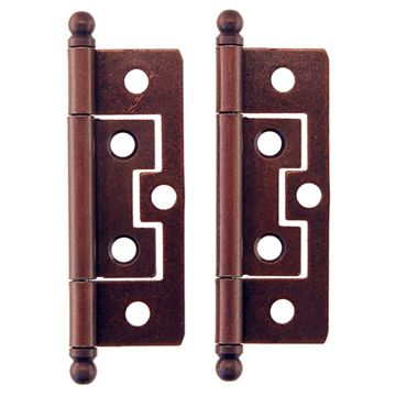 Restorers Classic 2 1/2 Inch Mission Non Mortise Ball Tip Hinge - Pair